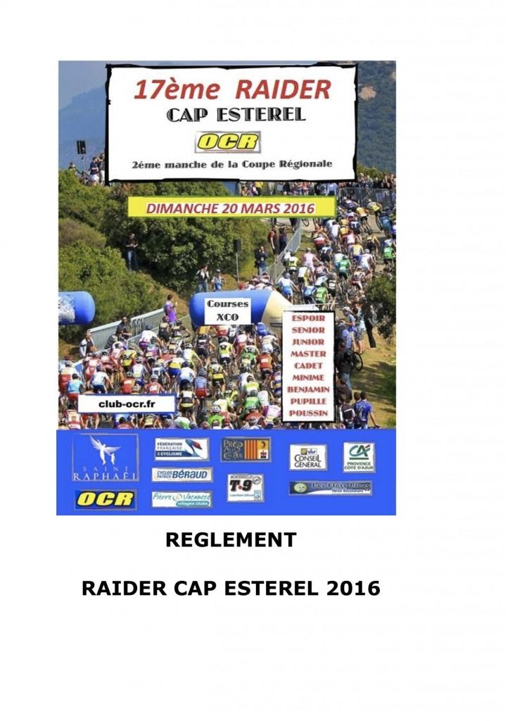 Reglement Raider Cap Estérel 2016:1