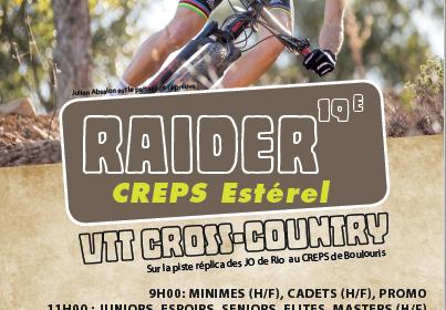 Affiche RAIDER CREPS ESTEREL 2018