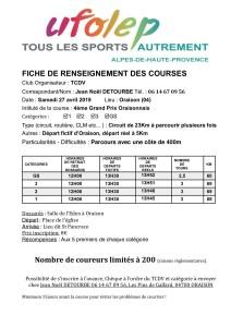 Course Oraison
