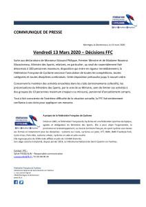 FFC-communiqué-décisions-FFC-13-mars-2020